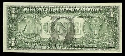 [1988 A Usa $1 Atlanta Federal Reserve Full 100% Offset Printing Error Note