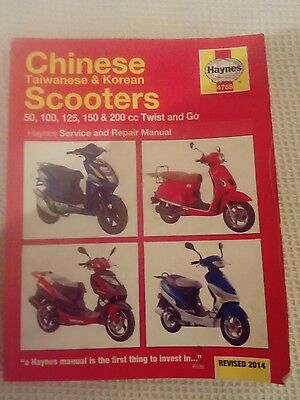 Haynes manual Chinese scooters 50cc to 200cc