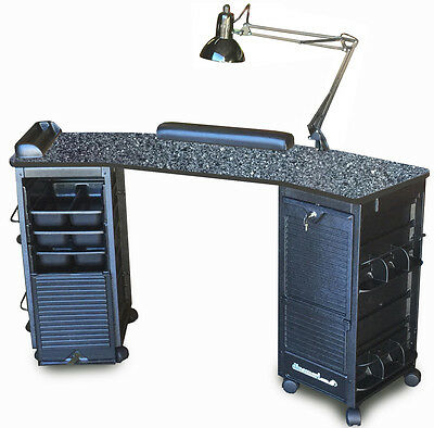 Manicure Nail Table K6002 Granite Lam.top Double Lockable Carts  *discontinued*
