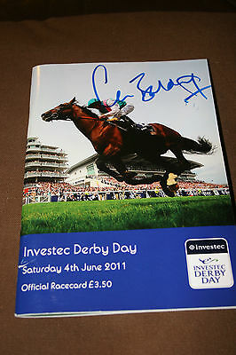 Investec Derby Day Sat 4Th June 2011 Racecard - Signed By Claire Balding