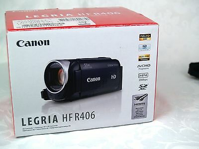 Canon Legria HF R406 HD 1080p Camcorder Video Camera with Sandisk 32GB SD card