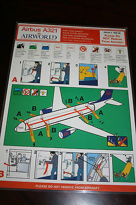 Safety Card Airworld Airbus A 321