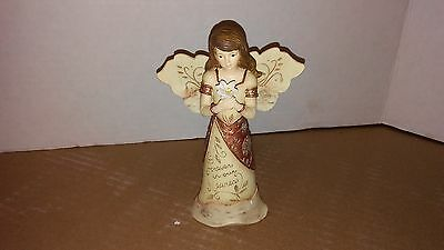"""Elements by Pavillion Angel Figurine COPPER FOREVER IN OUR HEARTS 5.5"""""""