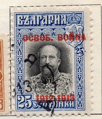 Bulgaria 1913 Early Issue Fine Used 25c. Optd 109063
