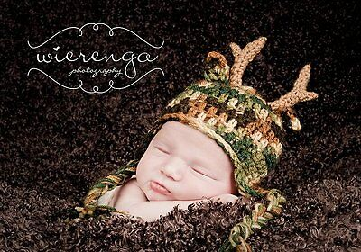 Antler Hat (newborn) - Great for Photo Props