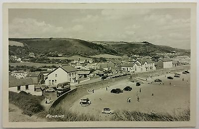 Postcard Pendine Harbour from Gilman Point, Carmarthenshire c1950's