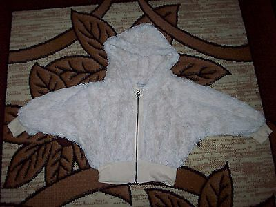 Next Girls Fluffy Coat Hooded Jacket age 5 Years, Height 110 cm.
