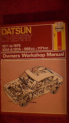 Haynes Owners Workshop Manual - Datsun Cherry 100A & 120A  1971 - 1976
