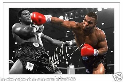 IRON MIKE TYSON BOXING SIGNED AUTOGRAPH 6x4 PHOTO PRINT FREE FAST POSTAGE