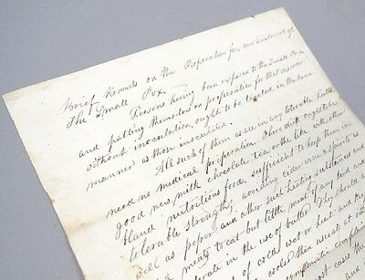 Estate Found 1848 New York State Doctor's Instruction on Small Pox Treatment
