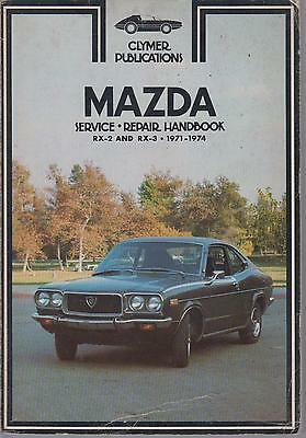 Mazda Rx-2 Rx2 Rx-3 Rx3 Saloon & Coupe ( 1971 - 1974 ) Owners Workshop Manual