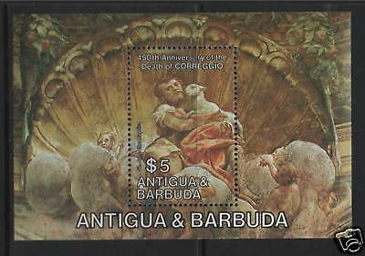 Antigua 1984 Anniv of Correggio MS SG882 MNH