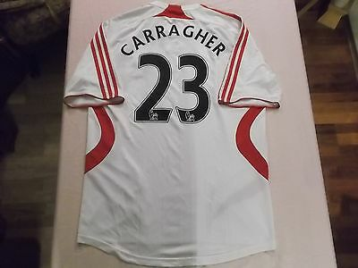 LIVERPOOL 2006/07 away football shirt CARRAGHER adults ENGLAND used