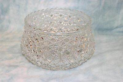 Beautiful Antique American Brilliant Cut Bowl with Cane Pattern Raised Base