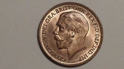 1917 Penny.George V. 1911-1936. UNC. Much Lustre. British Milled.Scarce as such.