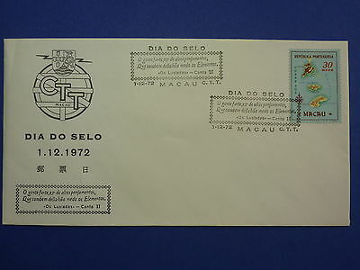 Lot 12613 Timbres Stamp Enveloppe Journee Du Timbre Macao Macau Annee 1972