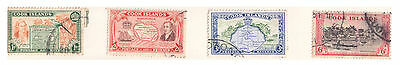 Cook Islands Stamps 1949 Issue 4 Values Used Lightly Hinged