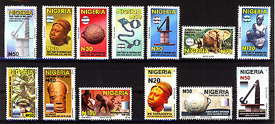 2009 to 2011 Nigeria -current Definitives - Full set of 13 Values NHM