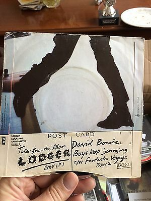 "David Bowie - Boys Keep Swinging 7"" Vinyl Single 45rpm Rare Picture Sleeve"