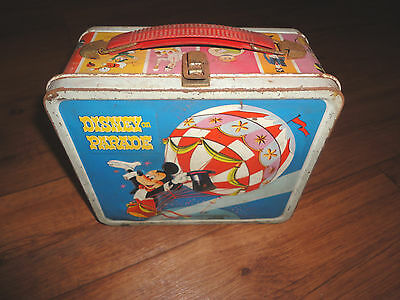 Vintage DISNEY ON PARADE Metal Lunch Box by ALADDIN