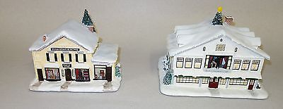 2 Norman Rockwell Christmas Hawthorn Village Studio & Willaims Son Country Store