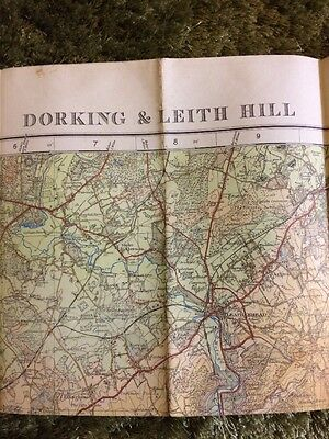 1929 OS MAP ~ Dorking And Leith ~ TOURIST MAP