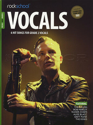 Rockschool Vocals Male Singers Grade 2 Music Book with Audio Access