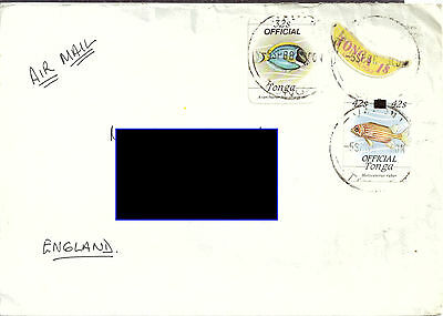 Tonga - Used cover, Self Adhesive and Official Stamps, including Overprinted