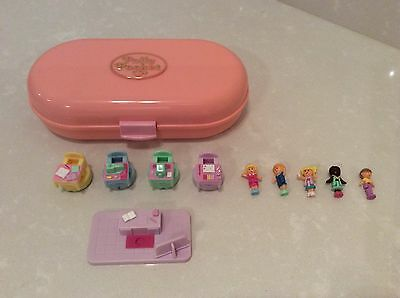 Vintage 1992 Polly Pocket Compact 'Stamp School Playset' Pink Oblong, Complete