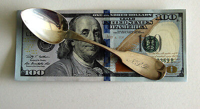 SIGNED - ANTIQUE 18th - 19th Century American/Continental Coin Silver Spoon VTG