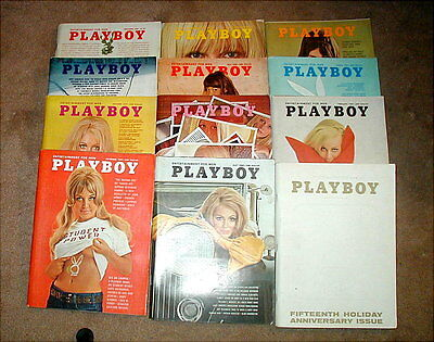 Compete Year Playboy Magazines 1969 All 12 Issues