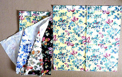 2 X Sample Selections Of Vintage Fabric, Cotton