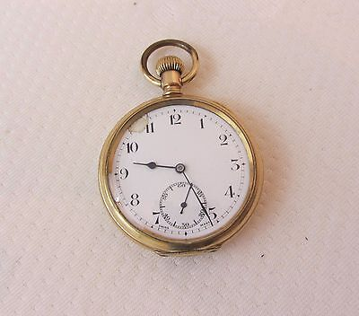 Vintage Gold Plated Pocket Watch With Sub Second Hand