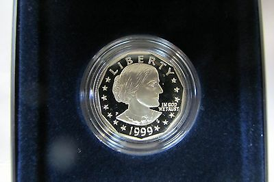 1999-P Proof Susan B Anthony Dollar With Box And Coa