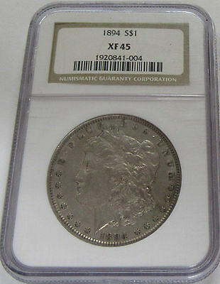 1894 Morgan Silver Dollar NGC XF45 Rare Key Date Coin! * Old US $1