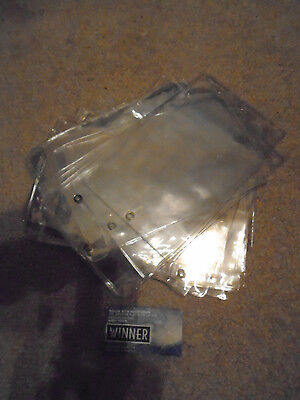 Lot Of 10-Pos Label Clear Envelopes With Pouch