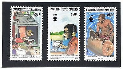 Cameroon 1983 Communications Stamps. Morse Code Key Telegraph