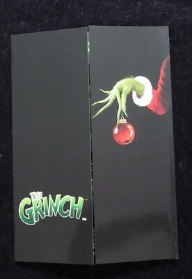 THE GRINCH british fold out synopsis/press book  JIM CARREY