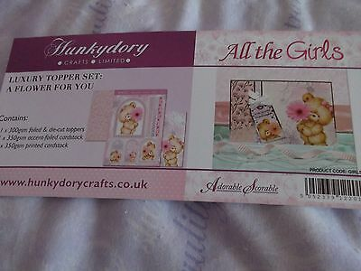 Hunkydory 'all The Girls' A Flower For You  Papercraft Kit - New