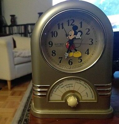 Seiko Disney Mickey Mouse Musical Alarm Clock! WORKS beautifully! RARE FIND!