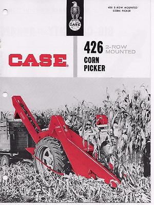 Vintage J I Case Co. Sales Brochure And Specification 426 2 Row Corn Picker