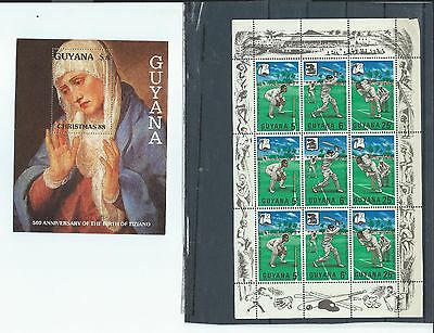 Guyana stamps.  Couple of minisheets - see description (X897)
