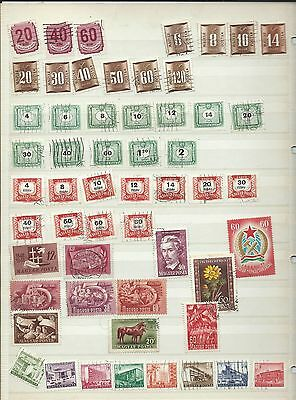 Hungary stamps. Stock page of used. (S728) Magyar Posta