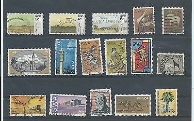 South West Africa Namibia stamps. Small used lot. (W877)