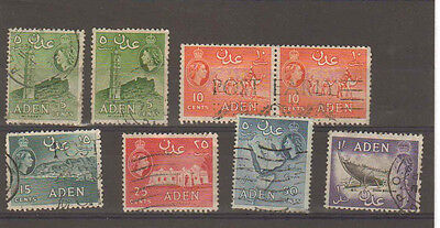 Aden stamps. Small QEII used lot. (S322)