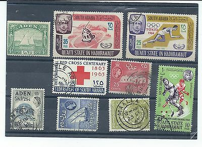 Aden & South Arabia stamps. Small used lot. (X696)