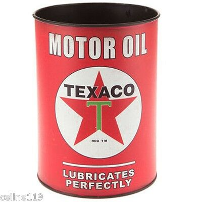 "Retro Style Collectible Metal Sign ""texaco"" Motor Oil Full Can (Gas/oil/garage)"