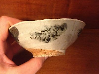 Ming Dynasty Chinese 15th Century Rare Porcelain Bowl Dragon Motif Glazed