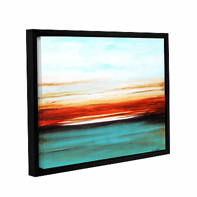 Sunset' Gallery Wrapped Floater-framed Canvas Art Print
