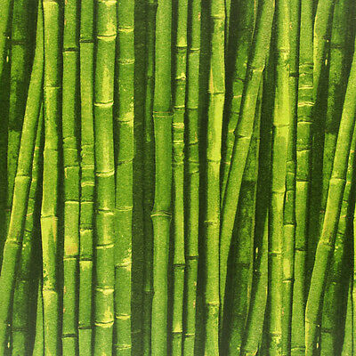 BAMBOO CANE Print Curtain Upholstery Cotton Fabric Material -140cm wide- GREEN